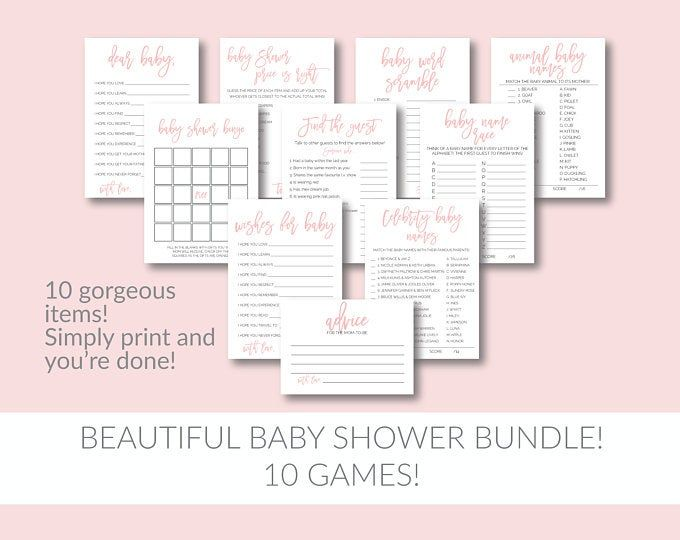 Whats in Your Purse Baby Shower Game, Baby Shower Games, Baby Shower Gift, Baby Shower Printable, W