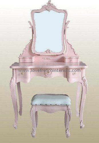 I have an old dressing table like this if you want it for Lily - you could paint it pink - how cute would that be???