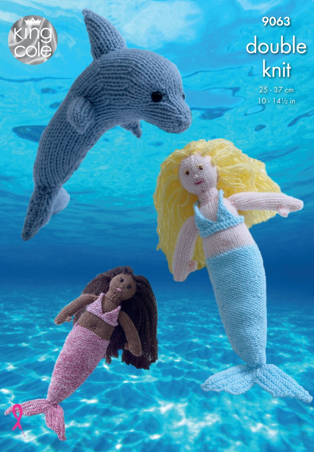 Knitted mermaids and dolphin in dk king cole 9063 my designs knit your own little mermaid and dolphin with this knitting pattern from king cole it uses king coles double knits in shine dollymix and pricewise dt1010fo