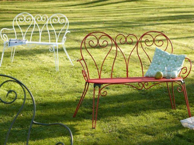 Fer forgé  la touche rétro de votre mobilier de jardin