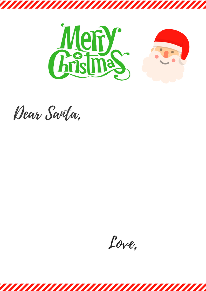 Free Printable Letter To Santa Simple Mom Review Free Printable Letters Dear Santa Letter Printable Letters