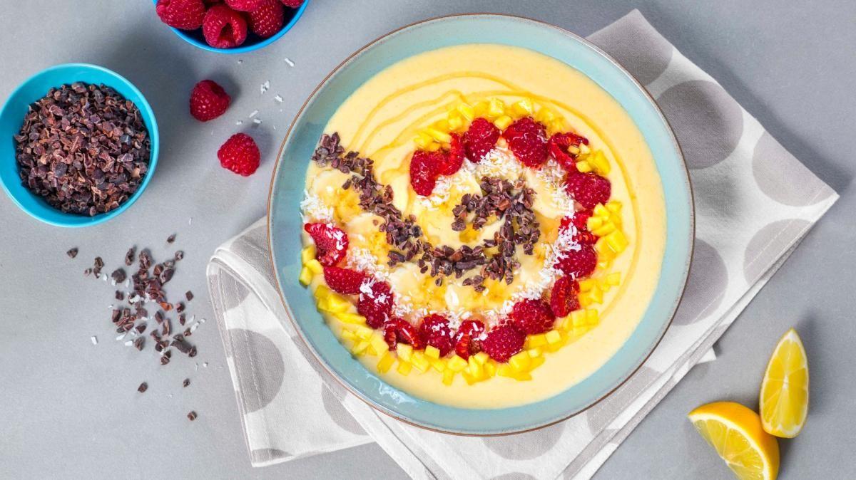 Oppskrift på Smoothie bowl med mango