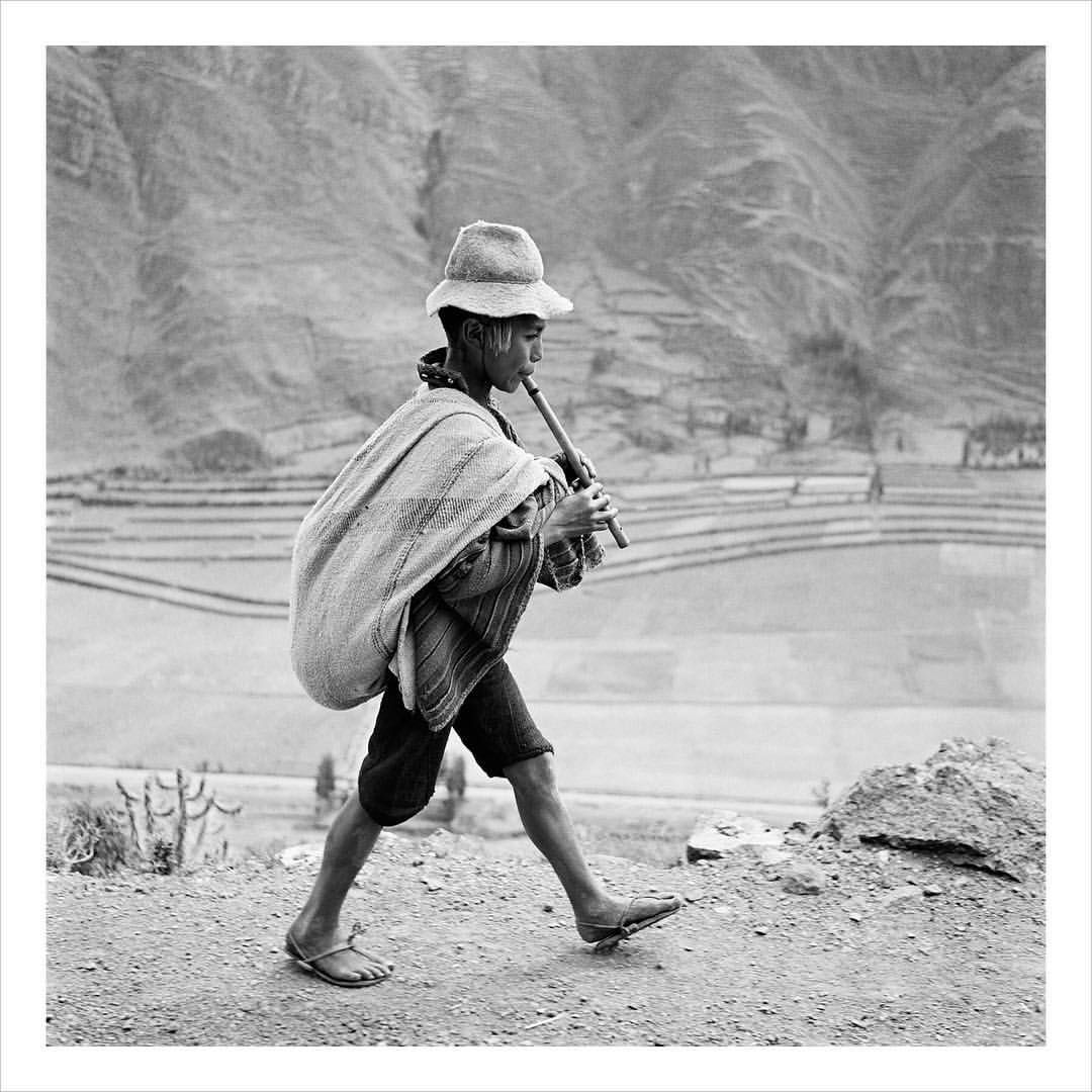 """In May 1954, the photographer Eugene V. Harris met Werner Bischof in Machu Picchu. He wrote of this time: 'On the last night of my brief friendship with Werner we sat before a fireplace, high in the Andes mountains of Peru, talking photography most of the night. I shall always remember his advice to me: """"to take pictures with your heart."""" This was the last picture taken before Bischof's tragic death in the Peruvian Andes. Sent from Instagram @magnumphotos."""