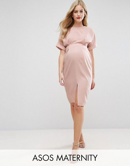 1e4f08b9e49ff Maternity dress in dusty pink. | Pregnant and Stylish | Maternity ...