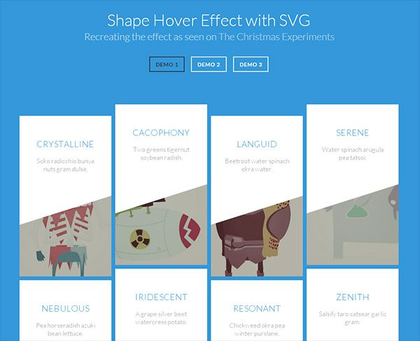 Shape Hover Effect with SVG in 30 Fresh and Helpful
