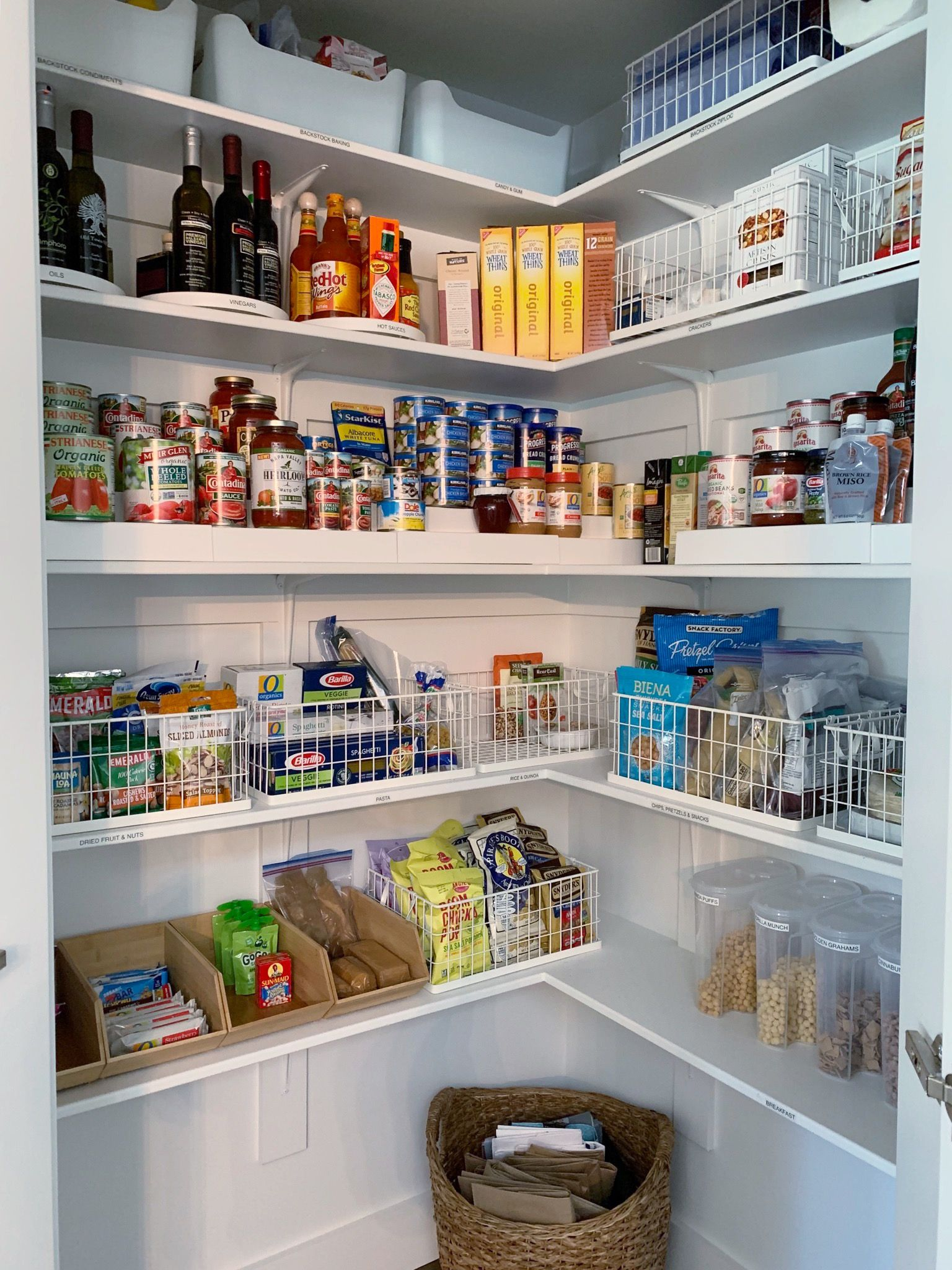 Simply Done: A Stunning Corner Pantry & More - simply organized
