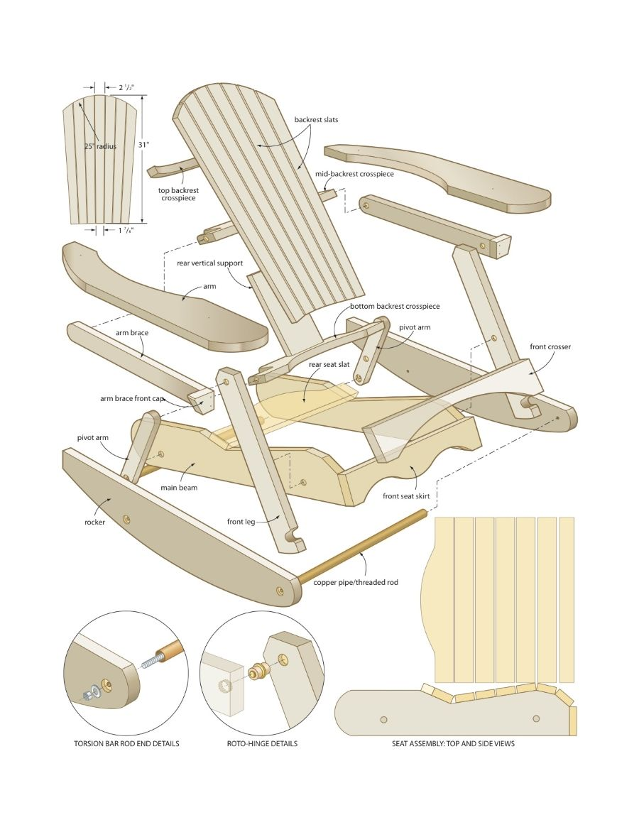 Free Rocking Chair Plans Adirondack Rocking Chair Plans Free Projects To Try Rocking