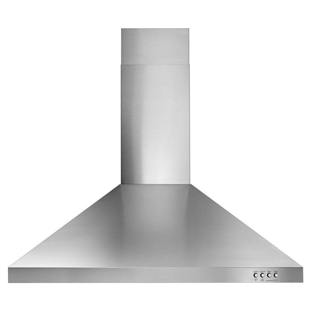 Whirlpool 30 In Contemporary Wall Mount Range Hood In Stainless Steel Wvw53uc0fs The Home Depot Wall Mount Range Hood Range Hood Steel Wall