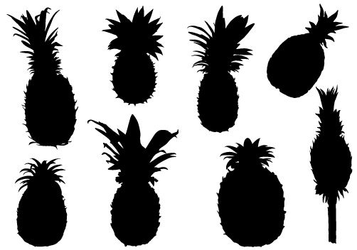 Pineapple Fruits Graphics Download | Pineapple vector ...