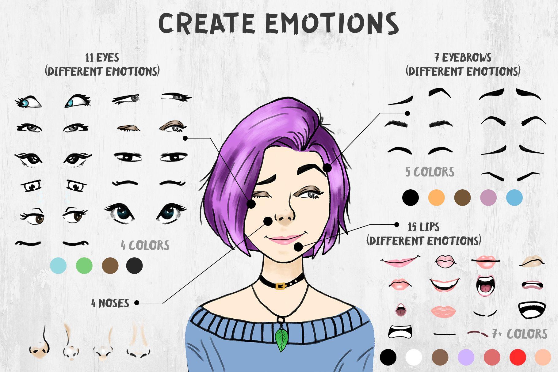 Character creator drawing cartoon characters character