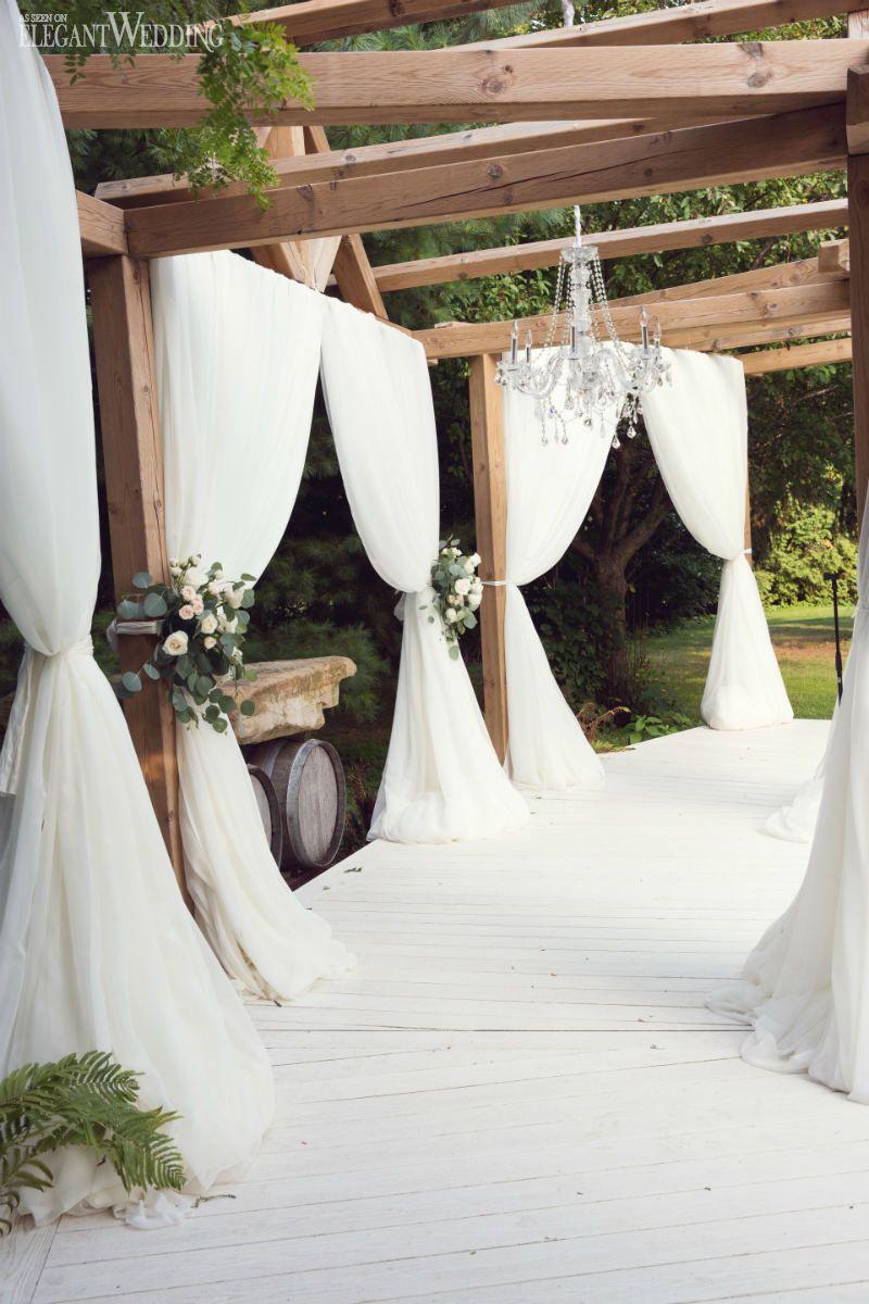 Vintage Vineyard Wedding at Honsberger Estate | Ceremony arch ...