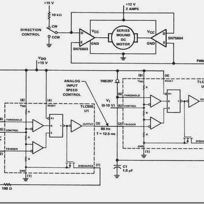 PWM Pulse Width Modulation Simple Circuits Diagram