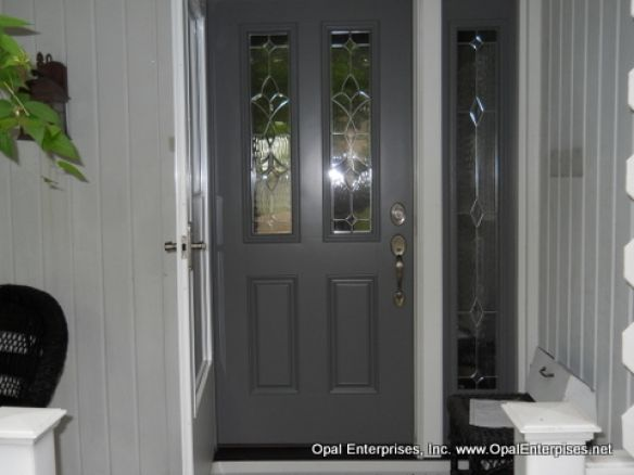 Charming Fiberglass Entry Door With Single Sidelight