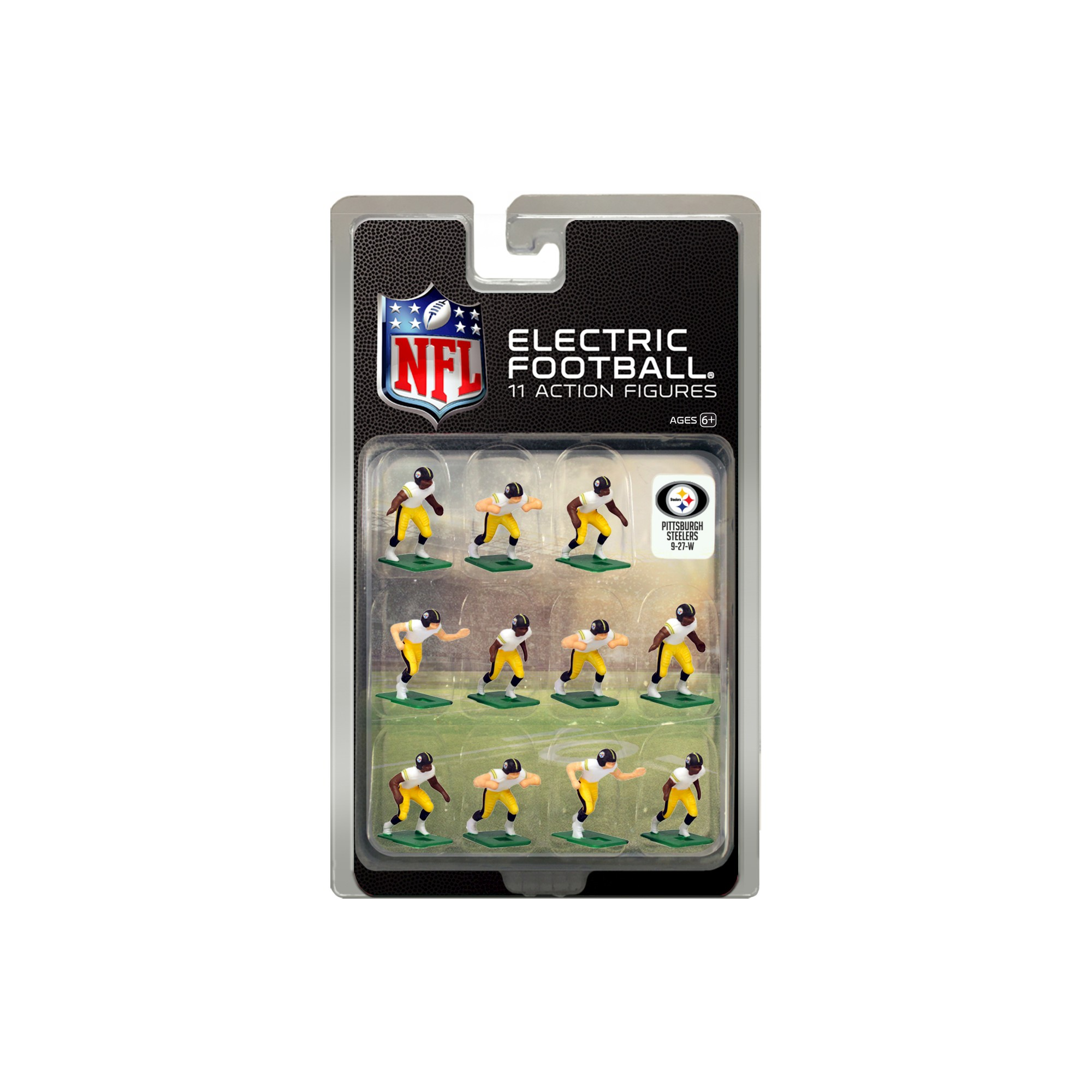 928892daa NFL Pittsburgh Steelers Tudor Games Away Uniform Electric Football Action  Figure Set
