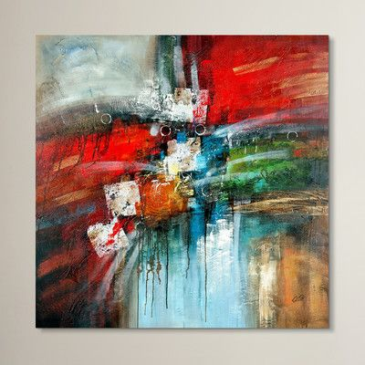 Wade logan cube abstract iv by rio painting print on canvas