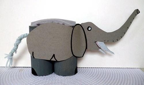Elefanten basteln Basteln Kindern Pinterest