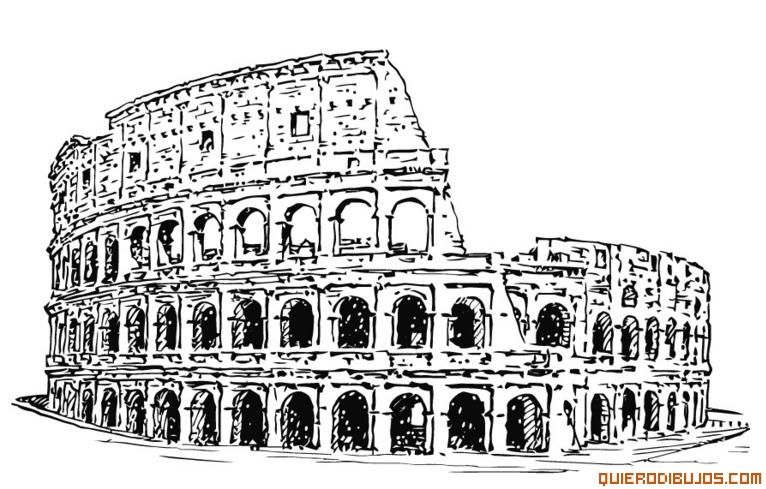 Coliseo Para Colorear Dibujos In 2019 Coliseo Romano Coliseo