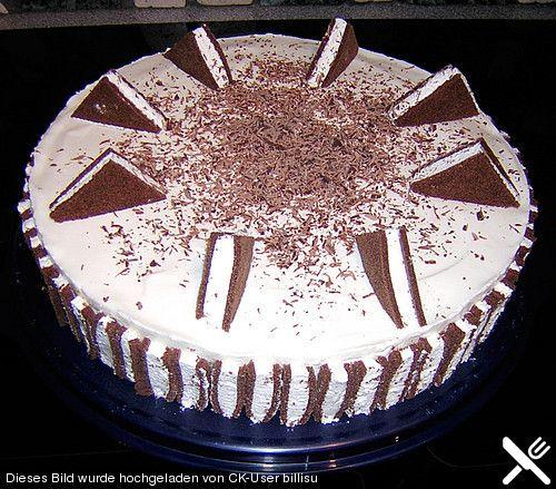 Milchschnittentorte Rezept Mit Bild Von Riky Milchschnitte Torte Kuchen Kuchen Torten