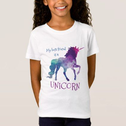 0ef65737 my best friend is a Unicorn T-Shirt - birthday gifts party celebration  custom gift ideas diy