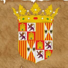 ESCUDO DE LOS REYES CATÓLICOS  Quedaba encabezado por el nombre de ambos, aunque el de Fernando aparecería primero, y las armas de Castilla precederían a las de Aragón.