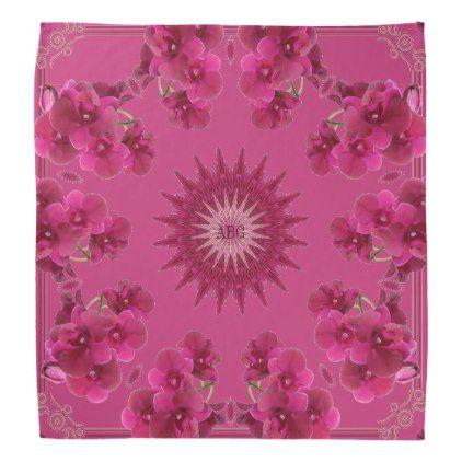 Ring of rose magenta orchids square bandana scarf bandana scarf bandana scarf negle Gallery