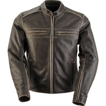 BLACK BRAND - Vintage Rebel Leather Motorcycle Jacket - Leather - Jackets - Biker - Cycle Gear