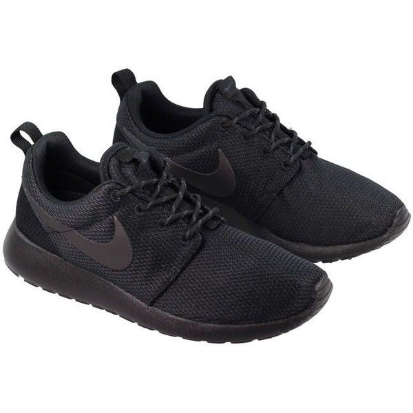 Nike Shoes Womens Roshe Black Anthracite ($48) ❤ liked on Polyvore  featuring shoes,