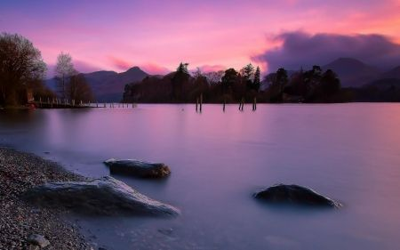 Beautiful pastel lake with pier collapsed hd wallpapers beautiful pastel lake with pier collapsed hd wallpapers wallpapers for desktop android iphone voltagebd Choice Image