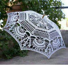 image regarding Umbrella Pattern Printable identified as Free of charge: Crochet Umbrella habit through Lermolaeva umbrella