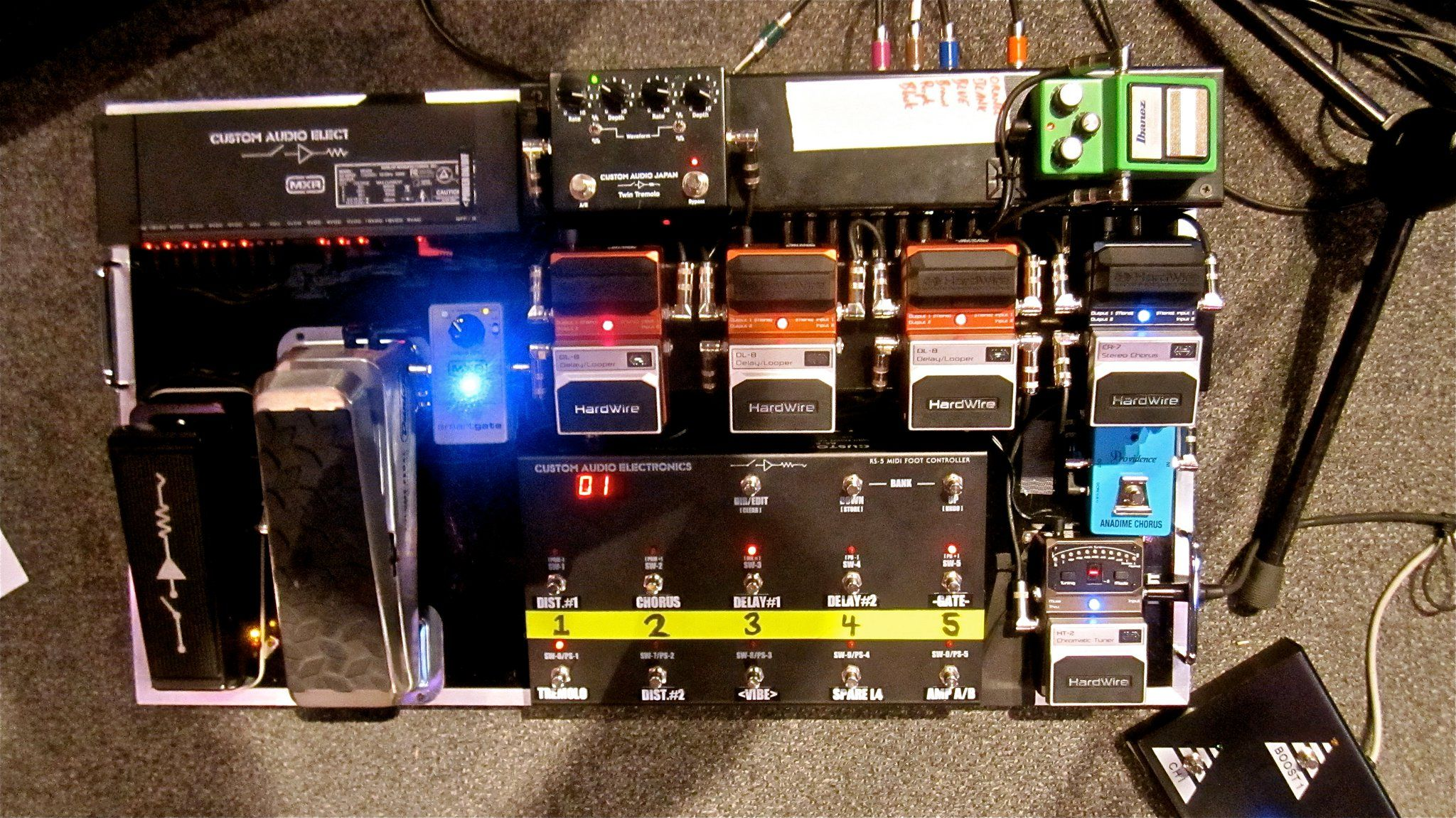 Steve Lukathers Pedalboard Pumped To See 3 Of My Pedals On 5039s And Modern Wiring Style Diagram From Http Wwwmylespaulcom Heros Board
