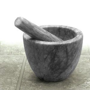 Amazon.com: RSVP Gorgeous Grey Marble Mortar & Pestle: Kitchen & Dining