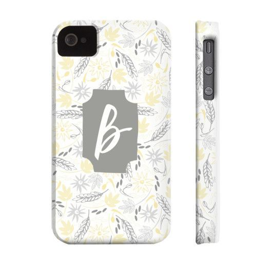 Bright & Cheery Floral Pattern Phone Case - Letter B