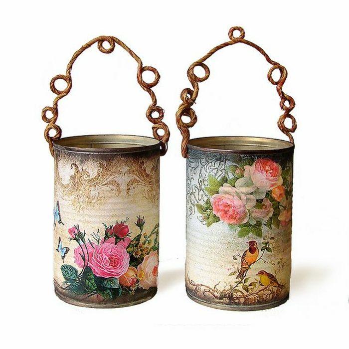 serviettentechnik mit tollen anleitungen und tipps latas recicladas pinterest pinke rosen. Black Bedroom Furniture Sets. Home Design Ideas