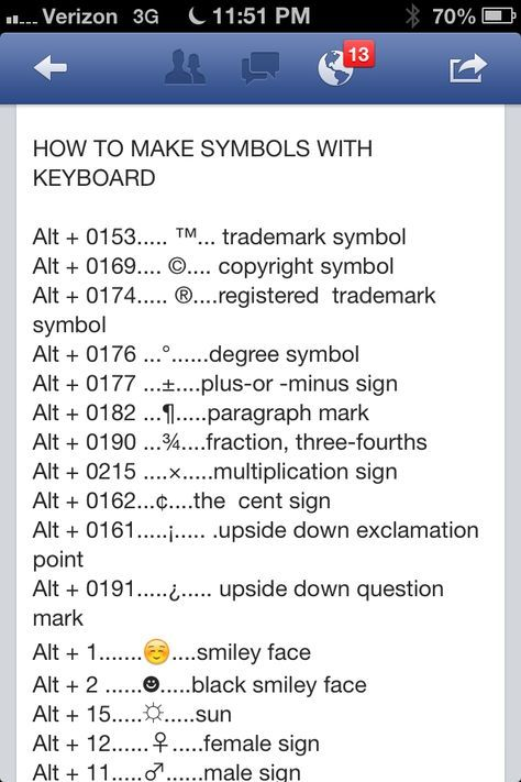 Quick Keys For Symbols Miscellaneous Pinterest Symbols Life