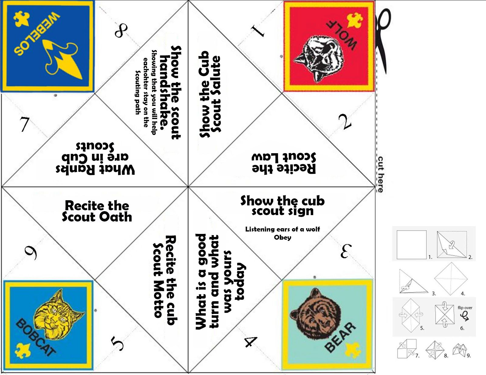 This Is A Simple Game To Help Your Cub Scouts Learn What