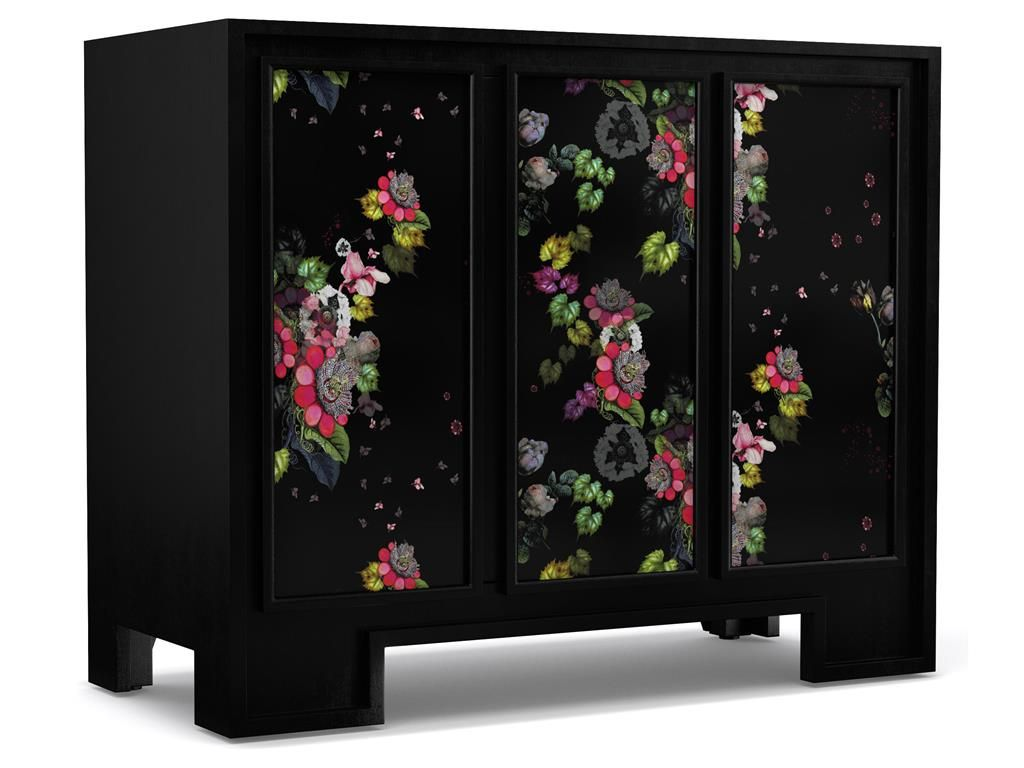 Cynthia Rowley for Hooker Furniture Fleur de Glee Three-Door Accent Chest 1586-85004-MULTI2