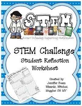 STEM Challenge Student Reflection Worksheet  Worksheets