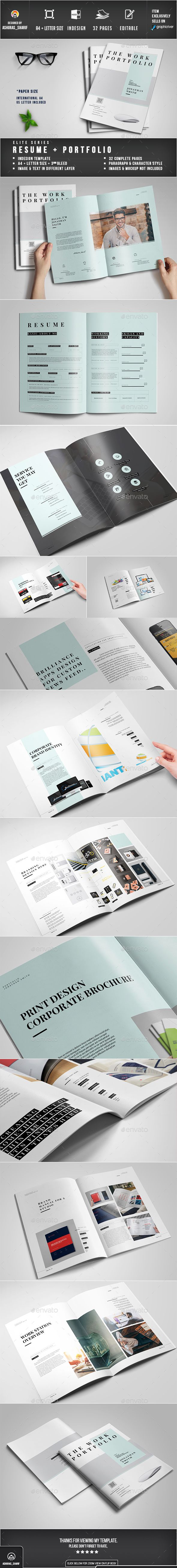 Portfolio InDesign Template • Download ➝ https://graphicriver.net ...