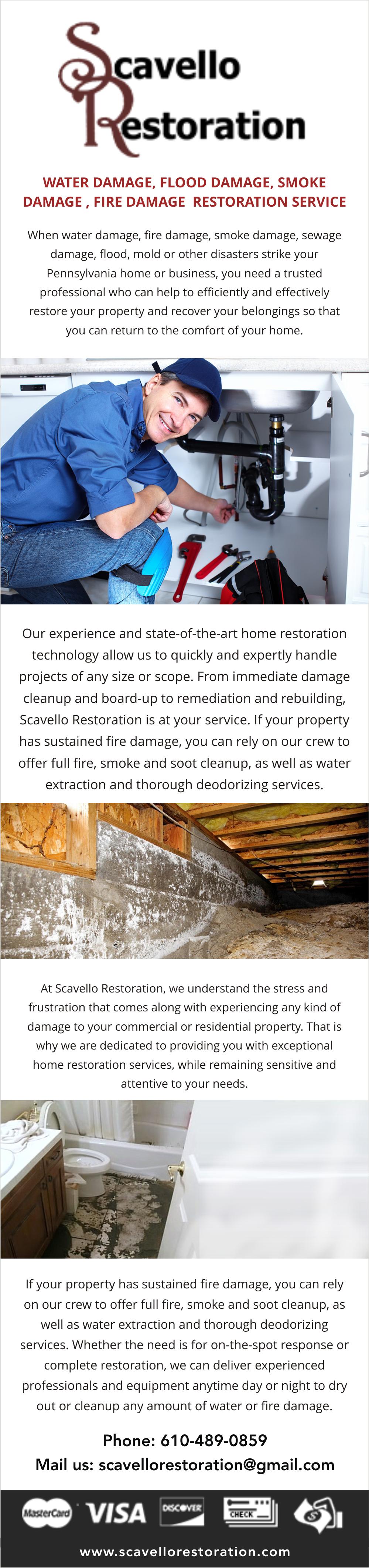 to Scavello Restoration, Montgomery County's