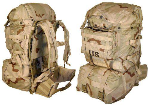 892088374 MOLLE II Standard Pack, Desert Camo, Genuine U.S. Military Issue ...