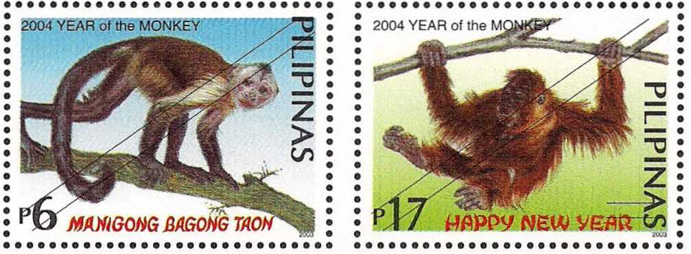 Stamps featuring the Year of the Monkey Year of the monkey