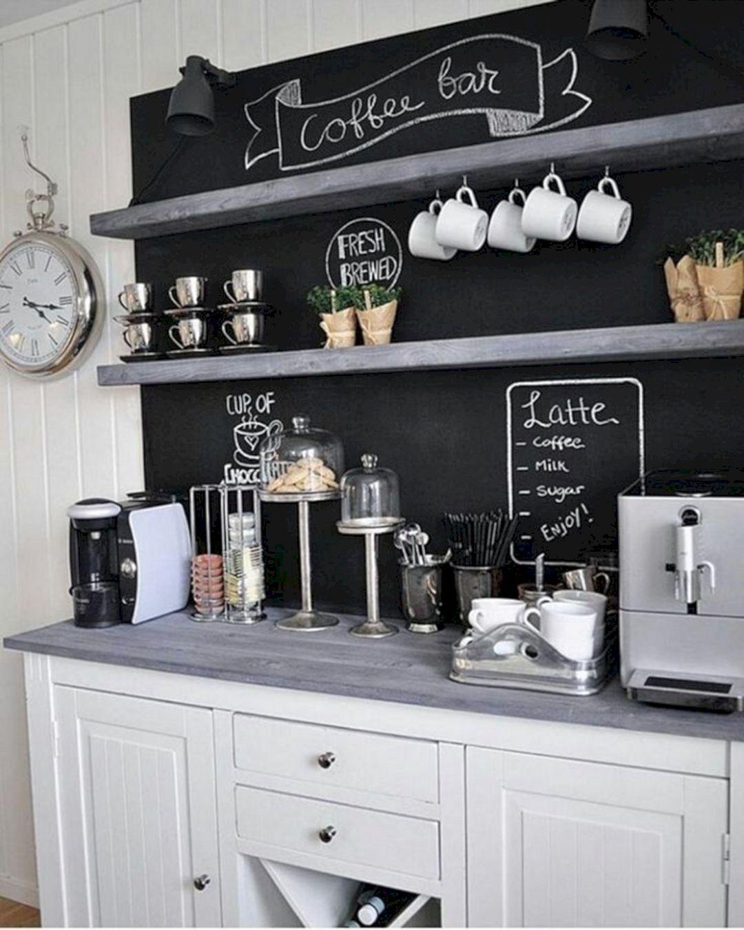 Stunning DIY COffee Bar Ideas Coffee bar home, Coffee