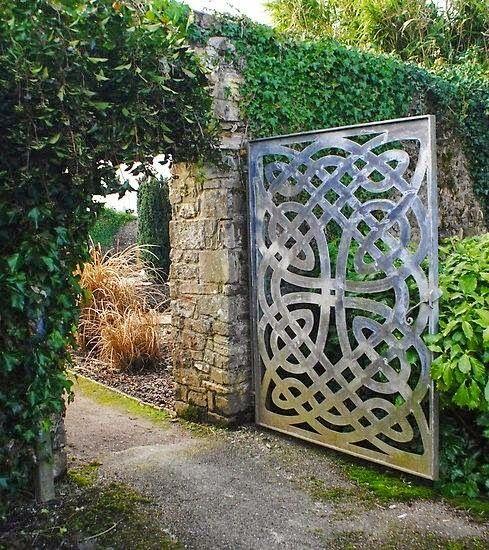 Beautiful Secret Celtic Garden Gate