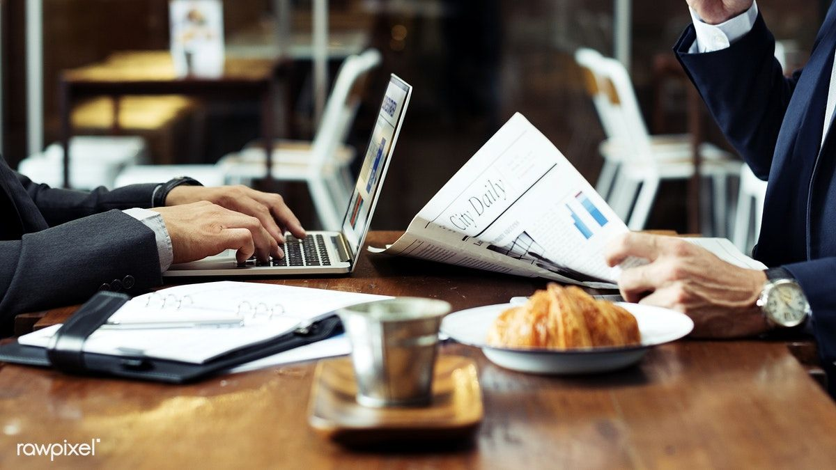 Download premium image of Business partners at a cafe