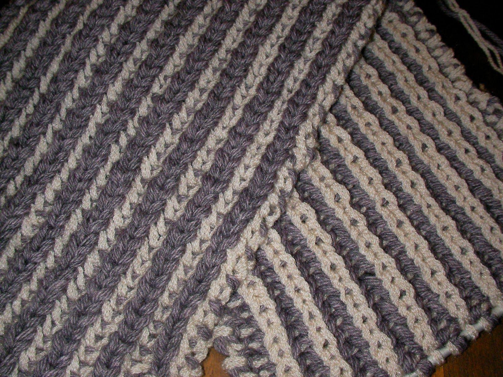 tricoter 2 laines ensemble