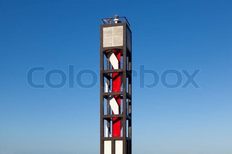 Stock image of 'Modern Lighthouse in Puerto de la Cruz, Tenerife, Spain'