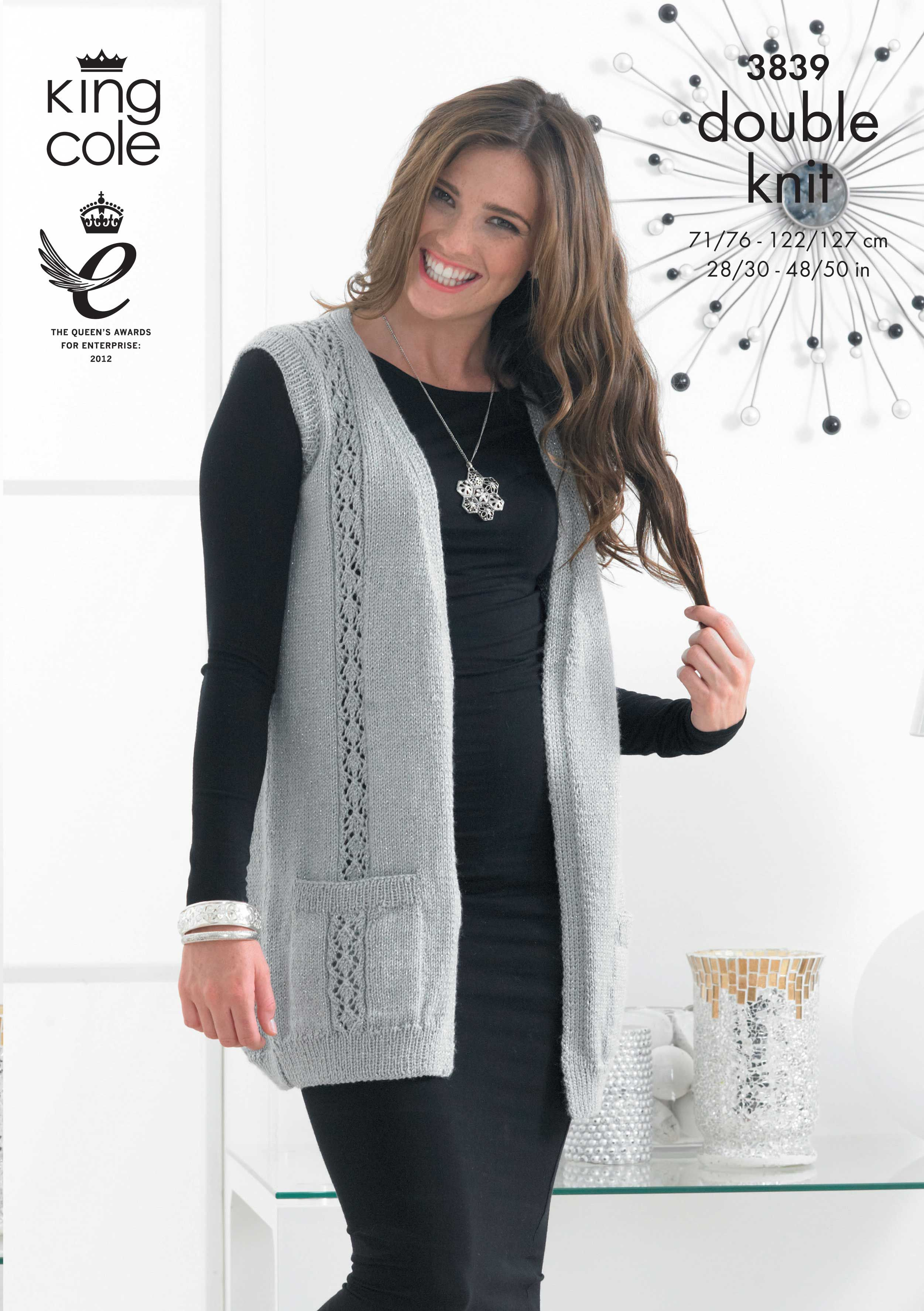 Stylish knitted waistcoat king cole glitz pinterest cardigan and waistcoat in king cole glitz dk discover more patterns by king cole at loveknitting the world largest range of knitting supplies we stock bankloansurffo Gallery