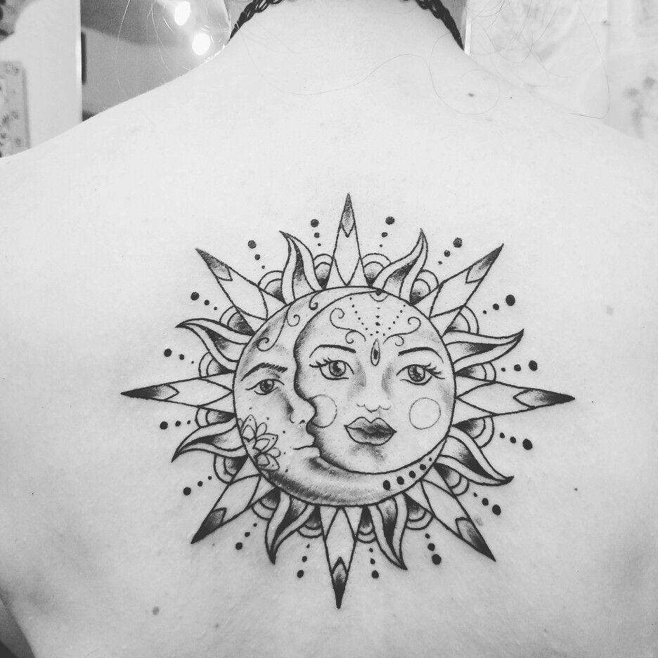 my third tattoo this year tattoo sun moon tattoos. Black Bedroom Furniture Sets. Home Design Ideas