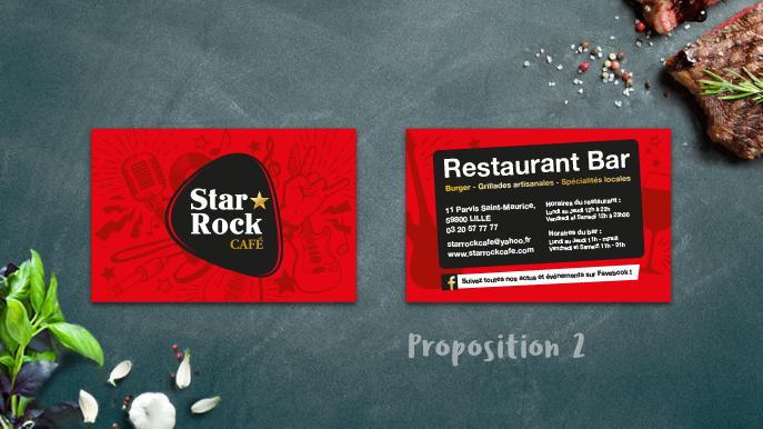 Cartes De Visite Pour Le Star Rock Caf Lille