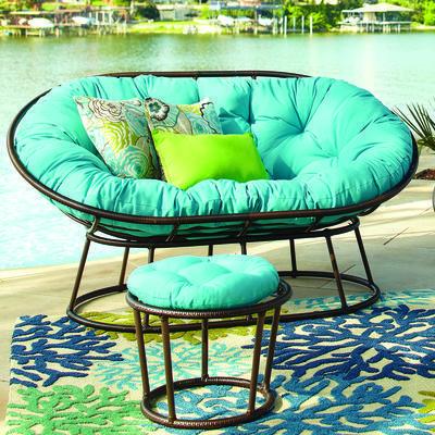 Papasan Outdoor Double Chair Frame Mocha Outdoor